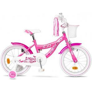 """Rower dziecięcy Accent Sandy 16"""" różowy wzór serca"""