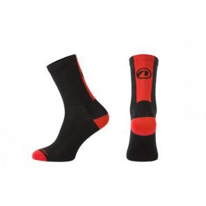 Accent Skarpetki kolarskie Stripe, czarno-czerwone, S (36-38)
