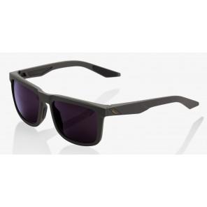 Okulary 100% BLAKE Soft Tact Midnight Mauve - Dark Purple Lens (Szkła Fioletowe)