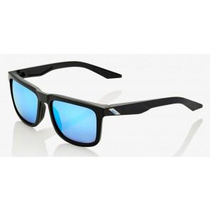 Okulary 100% BLAKE Matte Black - HiPER Blue Multilayer Mirror Lens (Szkła Niebieskie Lustrzane Wielowarstwowe)