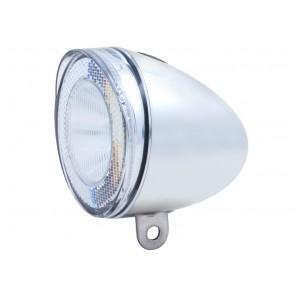 Lampka przednia SPANNINGA SWINGO XB 10luxów/50 lumenów+ baterie chrom (NEW)