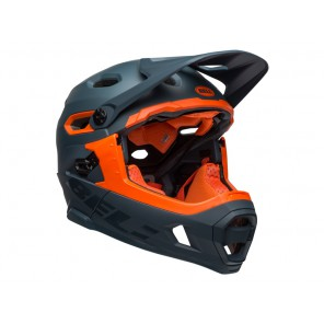 BELL SUPER DH MIPS SPHERICAL matte gloss slate orange kask