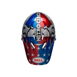 BELL SANCTION nitro circus gloss silver blue red kask