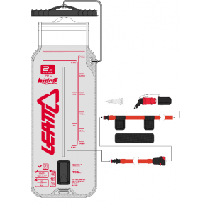 Leatt Bladder Flat CleanTech 2L (70oz) w tube and bite valve