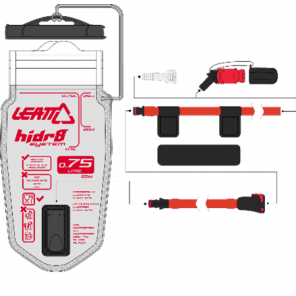 Leatt Bladder Flat CleanTech 0.75L (25oz) w tube and bite valve
