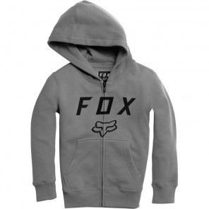 Bluza Fox Junior Z Kapturem Na Zamek Legacy Moth Heather Graphite Ys