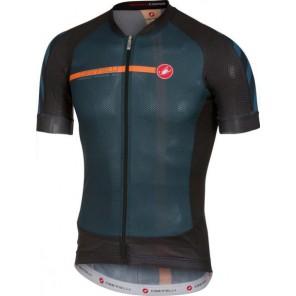 Castelli Koszulka kolarska Aero Race 5.1, midnight navy-czarno-pomarańczowa