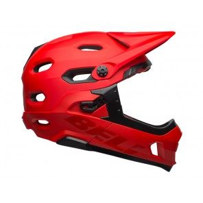 BELL SUPER DH MIPS SPHERICAL matte gloss crimson black kask-L