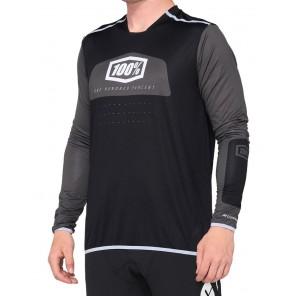 Koszulka męska 100% R-CORE X Jersey długi rękaw black white roz. M  (NEW)