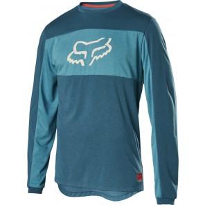 Koszulka Rowerowa Fox Z Długim Rękawem Ranger Dr Foxhead Maui Blue