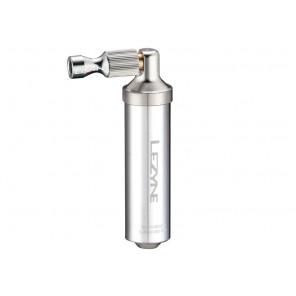 Pompka ręczna LEZYNE ALLOY DRIVE CO2 + 1x nabój gazowy 16g srebrna (NEW)