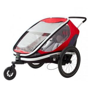 Hamax Przyczepka rowerowa OUTBACK czerwono-szaro-czarny
