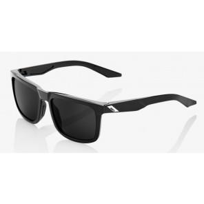 Okulary 100% BLAKE Polished Black - Grey PEAKPOLAR Lens (Szkła Polaryzacyjne Szare)