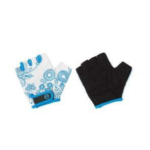 Accent Rękawiczki dziecięce Flowers Kids biało-niebieskie S/M