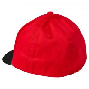 Czapka z daszkiem FOX Junior Skew Flexfit Flame YOS czerwony