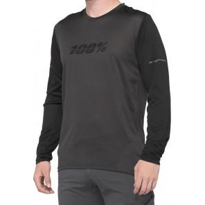 Koszulka męska 100% RIDECAMP Long Sleeve Jersey długi rękaw black charcoal