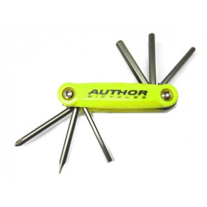 Klucze zestaw AUTHOR TOOLBOX 6 żółto-srebrne