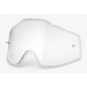 Szyba do gogli 100% RACECRAFT/ACCURI/STRATA (Szyba Przeźroczysta HD Double Injected Anti-Fog)
