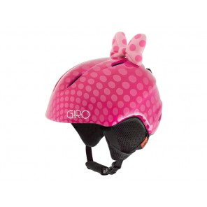 Kask zimowy GIRO LAUNCH PLUS pink bow polka dots roz. S (52-55.5 cm)