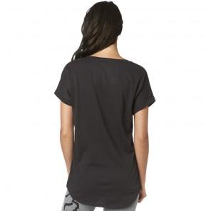 T-shirt Fox Lady Responded Black Vintage