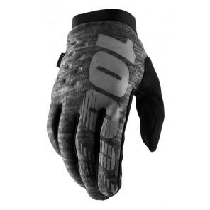 Rękawiczki 100% BRISKER Cold Weather Glove Heather grey roz. XL (długość dłoni 200-209 mm) (NEW)