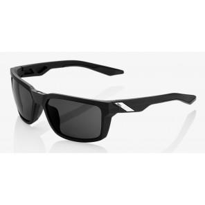 Okulary 100% DAZE Soft Tact Black - Smoke Lens (Szkła Czarne Smoke)