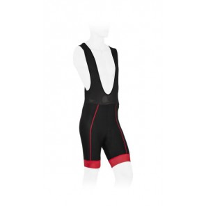 Spodenki z szelkami Apex Pro, czarno-czerwone, XL