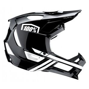 Kask full face 100% TRAJECTA Helmet black white