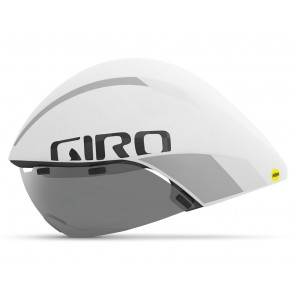 Kask czasowy GIRO AEROHEAD ULTIMATE INTEGRATED MIPS matte white silver roz. M (55-59 cm) (NEW)