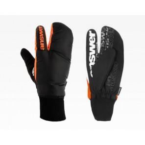 Rękawiczki Sleestak, czarno-szaro-pomarańczowe, rozmiar M