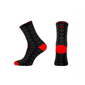 Skarpetki ACCENT Icon Long czarny/czerwony