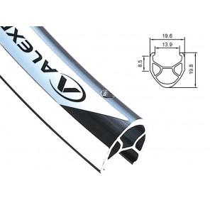 Obręcz szosa ALEXRIMS R450 700x36otw. bok CNC czarna