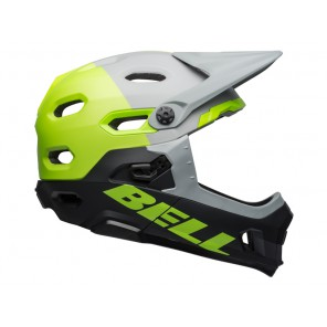 BELL SUPER DH MIPS SPHERICAL unhinged matte gloss gray green black kask-L