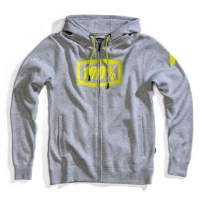 Bluza męska 100% SYNDICATE Hooded Zip Sweatshirt Grey Heather roz. L (NEW)