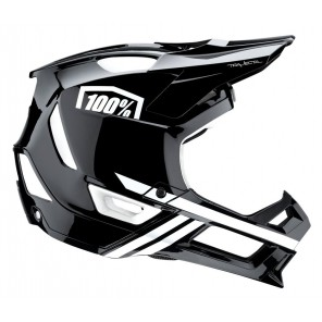 Kask full face 100% TRAJECTA Helmet black white