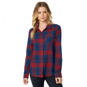 Koszula Fox Lady Kick It Flannel Dark Red Xs
