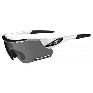 Okulary TIFOSI ALLIANT white black (3szkła Smoke 15,4% transmisja światła, AC Red, Clear) (NEW)