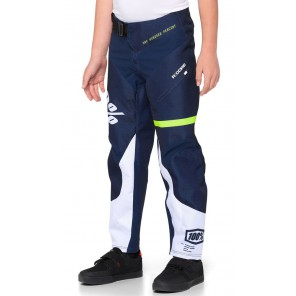 Spodnie juniorskie 100% R-CORE Pants dark blue yellow