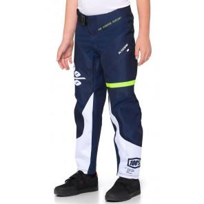 Spodnie juniorskie 100% R-CORE Pants dark blue yellow