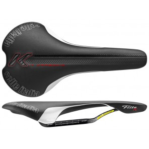Siodło SELLE ITALIA FLITE KIT CARBONIO L (id match - L1) carbon/keramic 7x9, fibra-tek, 180g czarne (NEW)