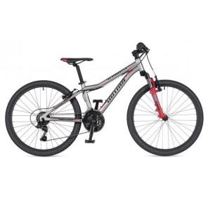 """A-MATRIX 24 12,5"""" srebrno/czerwony, rower AUTHOR'19"""
