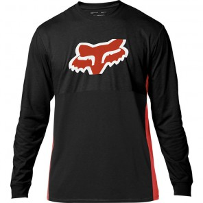 Koszulka Fox Z Długim Rękawem Blazed Black/orange