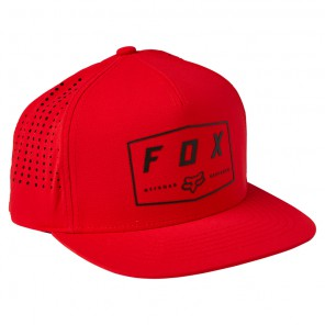 Czapka z daszkiem FOX Badge Snapback OS czerwony