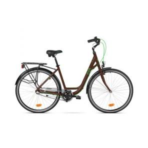 """Accent Rower miejski Irish 28"""" 3-biegowy, brązowy matowy"""