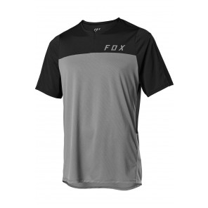 Koszulka FOX Flexair Zip L pewter