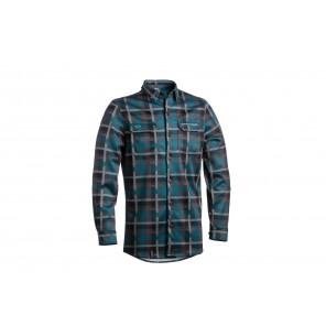 Dartmoor 2018 Koszula techniczna z długim rękawem Checker M zielony