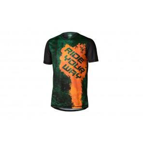 T-shirt DARTMOOR Woods zielony/pomarańczowy