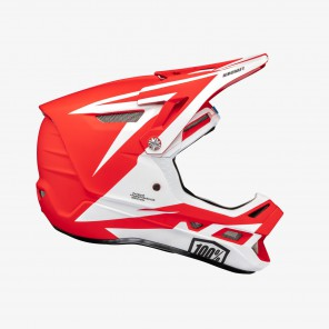 Kask full face 100% AIRCRAFT COMPOSITE Helmet Rapidbomb/Red roz. L (59-60 cm) (NEW)