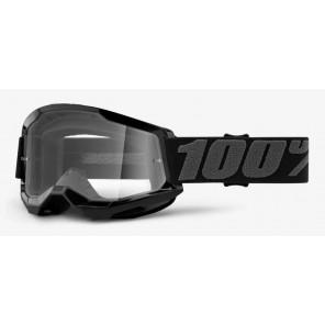 Gogle 100% Strata 2 Black (szyba clear Anti-Fog)