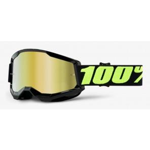 Gogle 100% Strata 2 Upsol (szyba złota lustrzana Anti-Fog)